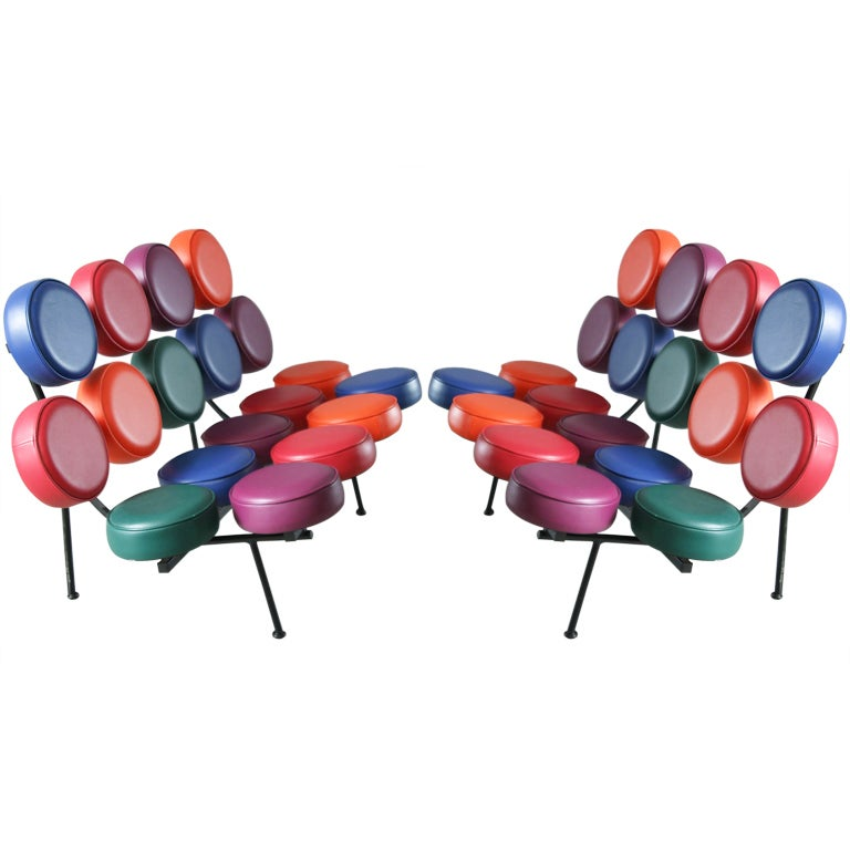 A pair of George Nelson Marshmallow Sofas for Vitra 1