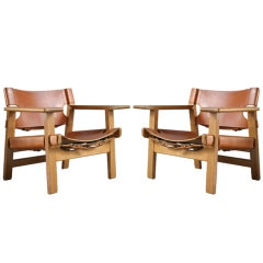 Pair of 'Spanish Chairs' by Børge Mogensen