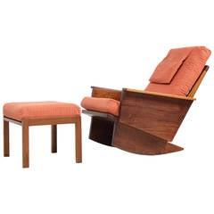 Arden Riddle Studio Rocker Chair with Ottoman