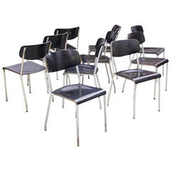 Set of Ten Eron Kramer Chairs for Ronneburger