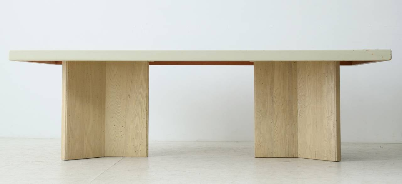 Paul Frankl Dining Table With Cork Top At 1stdibs