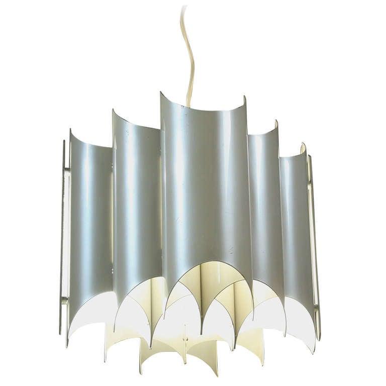 1960s Italian Pearl Coated Metal Pendant