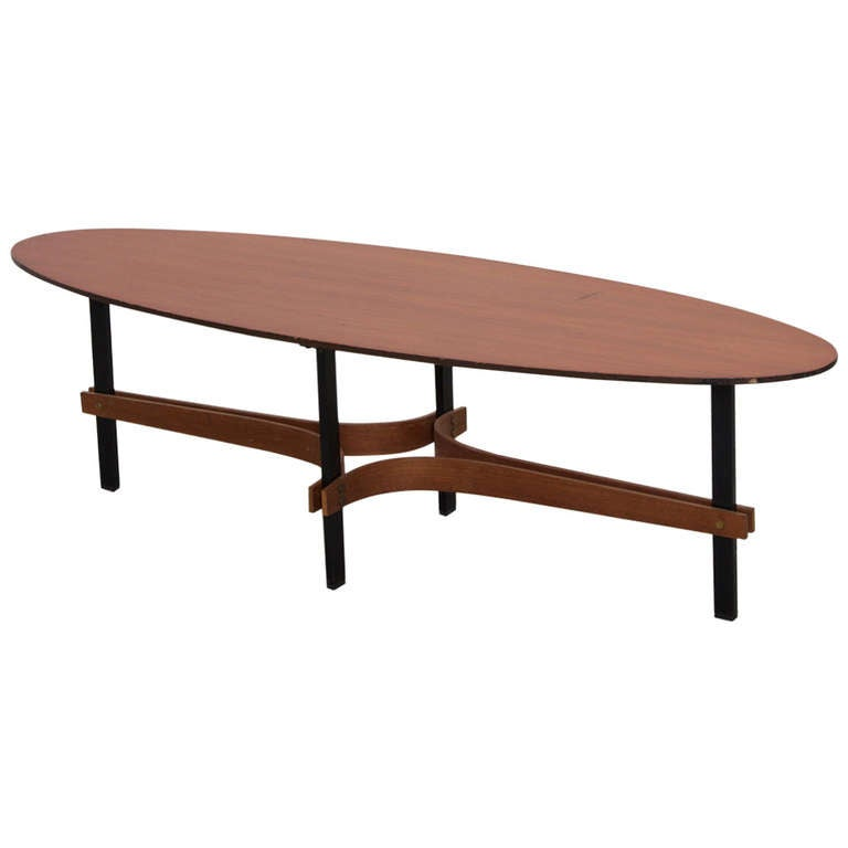 Guglielmo Ulrich Surfboard Coffee Table For Valcher Udine 1963 At 1stdibs
