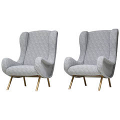 Pair of Senior Chairs by Marco Zanuso for Arflex France