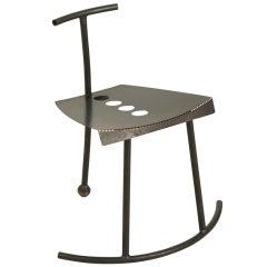 Unique Laubersheimer chair, rocking sideways