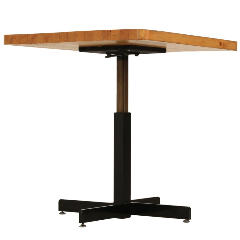 Charlotte Perriand Square Height Adjustable Table From Les
