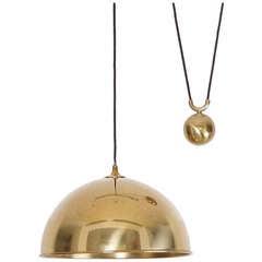 Florian Schulz Posa Counterweight Pendant Lamp In Brass