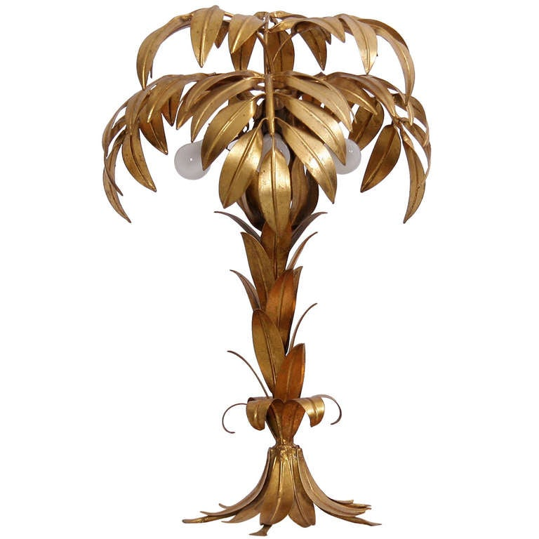 palm tree table lamp by hans k gl at 1stdibs. Black Bedroom Furniture Sets. Home Design Ideas
