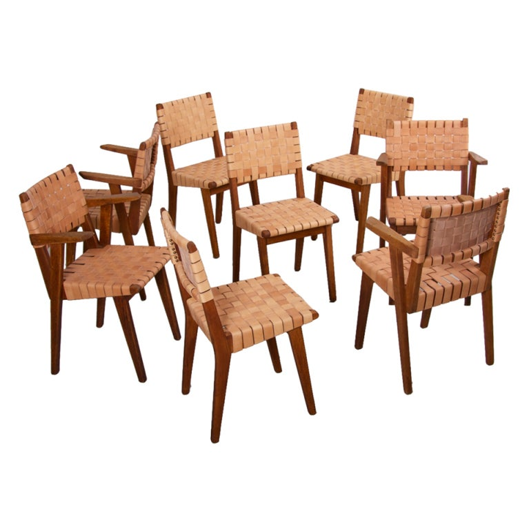 Set of 8 jens risom 666 w dining chairs for knoll at 1stdibs - Jens risom dining chairs ...