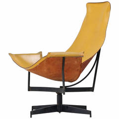 Leather Crafter Lounge Chair in Brown