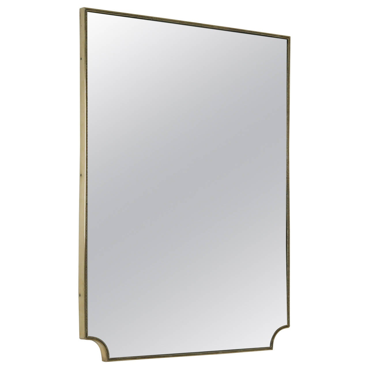 Italian 1950s Brass Framed Mirror