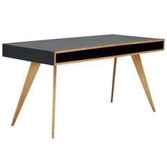 Published 1950s Freestanding Wooden Writing Desk By Swiss Designer Hans Bellman