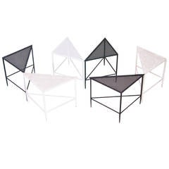 Set of Six Triangle Tables by Mathieu Mategot