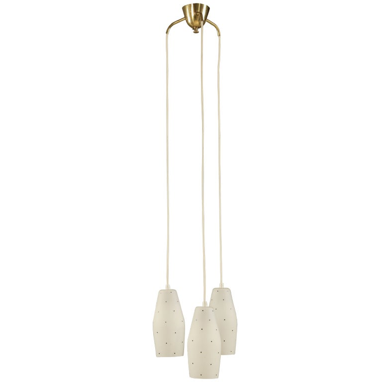 Lisa Johansson Pape Chandelier White Glass Shades With