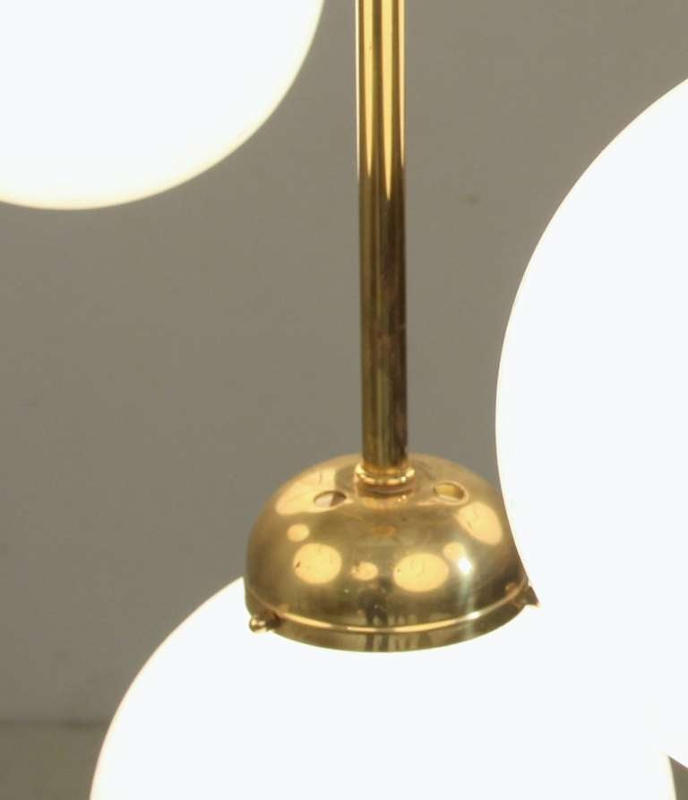 Very Large German Thirteen-Armed Brass Chandelier, 1960s 3