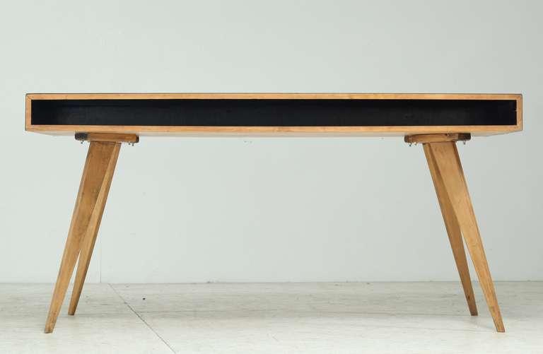 published 1950s freestanding wooden writing desk by swiss designer hans bellman 3 - Designer Writing Desk