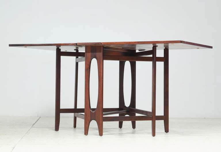 Merveilleux A Scandinavian Rosewood Drop Leaf Gateleg Table, Reminiscent Of Bruno  Mathssonu0027s U0027Mariau0027
