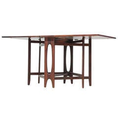 Scandinavian Rosewood Drop-Leaf Gateleg Table