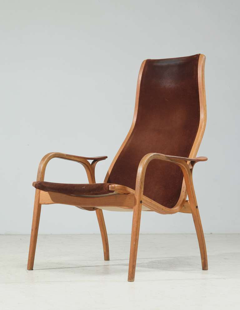 Yngve Ekstrom Lamino Chair, Stamped 1965 at 1stdibs