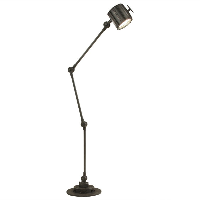 Heavy Quality Iron Industrial Floorlamp At 1stdibs