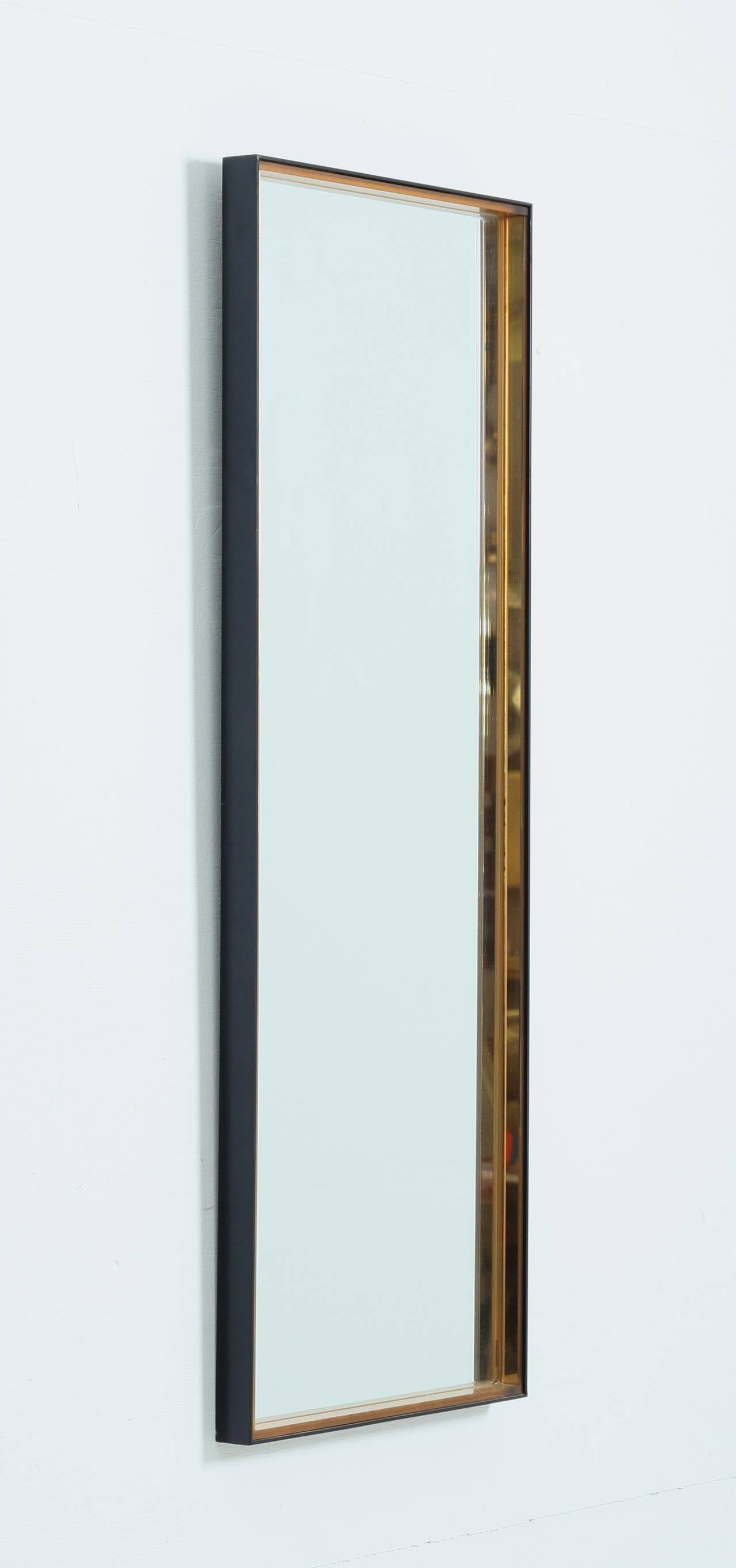 Tall rectangular hallway mirror with hardened glass frame for Long glass mirror