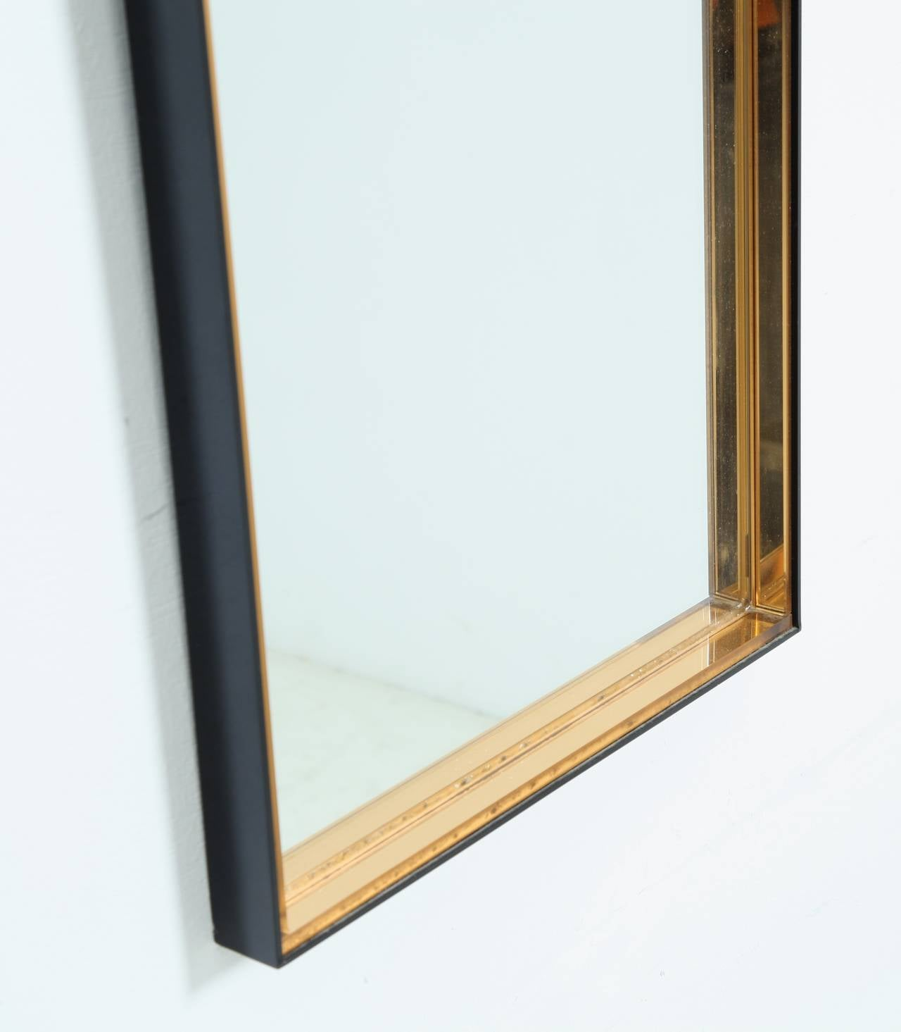 Tall rectangular hallway mirror with hardened glass frame for Tall gold mirror