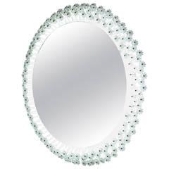 Round Backlit Mirror by Emil Stejnar for Rupert Nikoll, Austria, 1950s