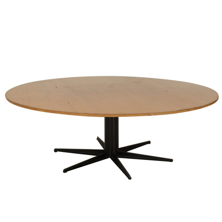 Xxl round industrial table 225 cm 7ft 4 6 inch diameter table top at 1stdibs - Inch diameter dining table ...