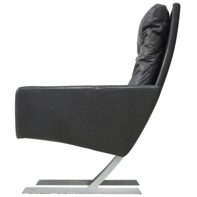 Preben Fabricius High Back BO 701 Chair in Brown Leather, Germany, 1970 For Sale