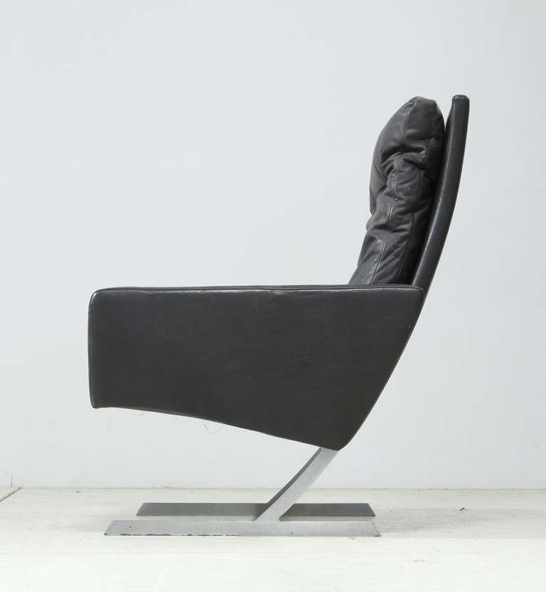 This is a model BO 701 chair by Preben Fabricius, from 1970 for Bo-Ex. Wonderful high back chair in dark brown leather. The leather is nice and soft from usage, no damages. Provenance available.