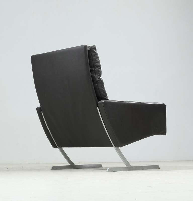 Preben Fabricius High Back BO 701 Chair in Brown Leather, Germany, 1970 In Excellent Condition For Sale In Maastricht, NL