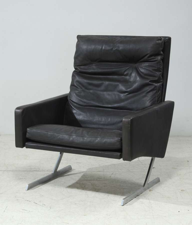 Late 20th Century Preben Fabricius High Back BO 701 Chair in Brown Leather, Germany, 1970 For Sale