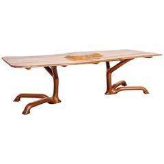 Ejner Pagh Sculptural Walnut Table, USA, 1974