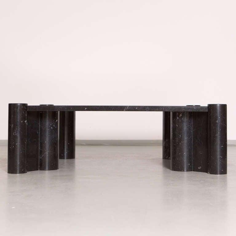 1970s Black Marble Jumbo Coffee Table By Gae Aulenti At 1stdibs