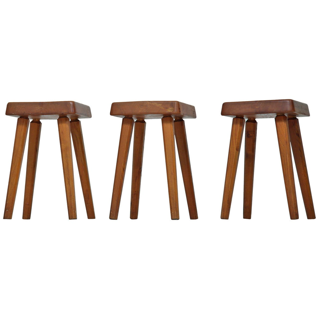 Three Pierre Chapo Stools For Sale At 1stdibs