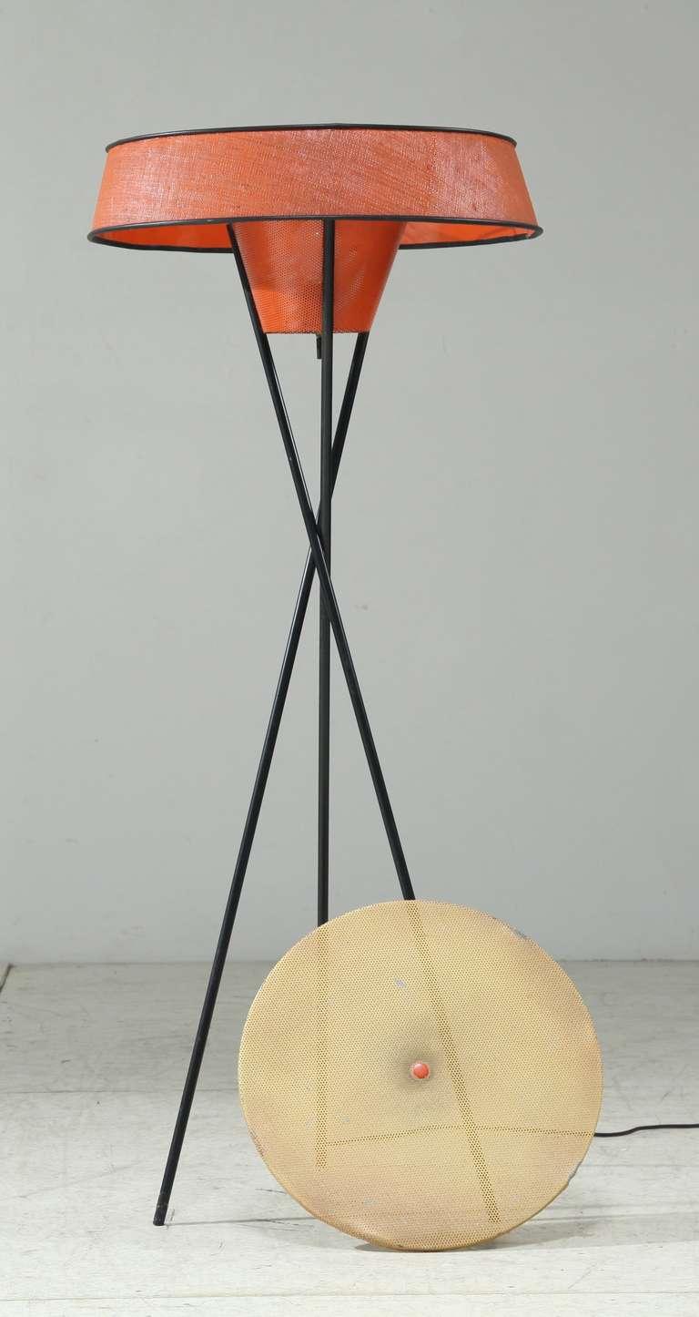 A 1950s Gerald Thurston Tripod Floor Lamp For Lightolier