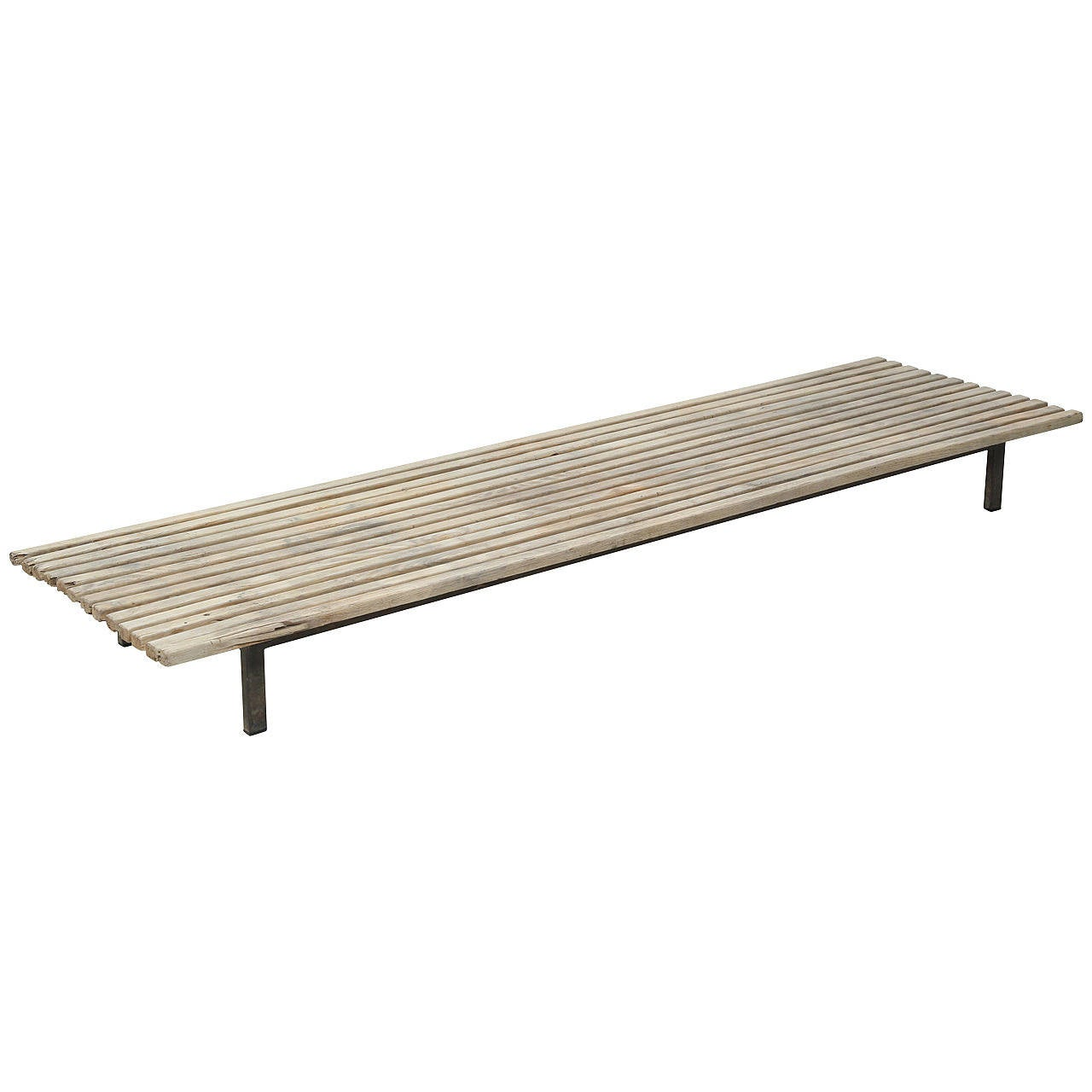 Extra Large Charlotte Perriand Slat Bench or Table 1Extra Large Charlotte Perriand Slat Bench or Table For Sale at 1stdibs. Outdoor Table Legs For Sale. Home Design Ideas