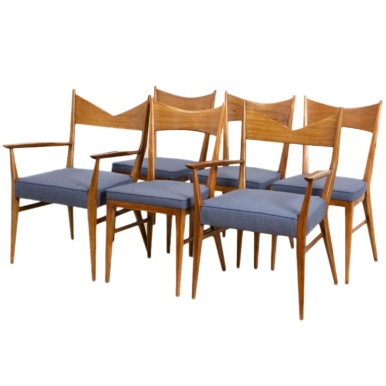 Set of 6 Paul McCobb Bowtie Chairs by Calvin