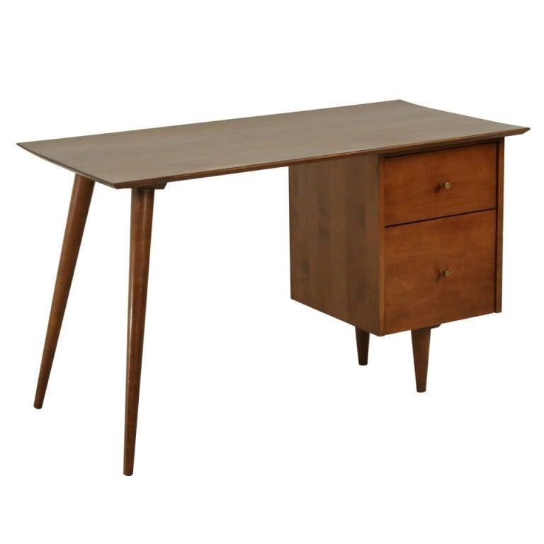Paul Mccobb Planner Group Desk In Walnut 1950s At 1stdibs