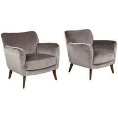 Pair of Giorgio Ramponi Club Chairs