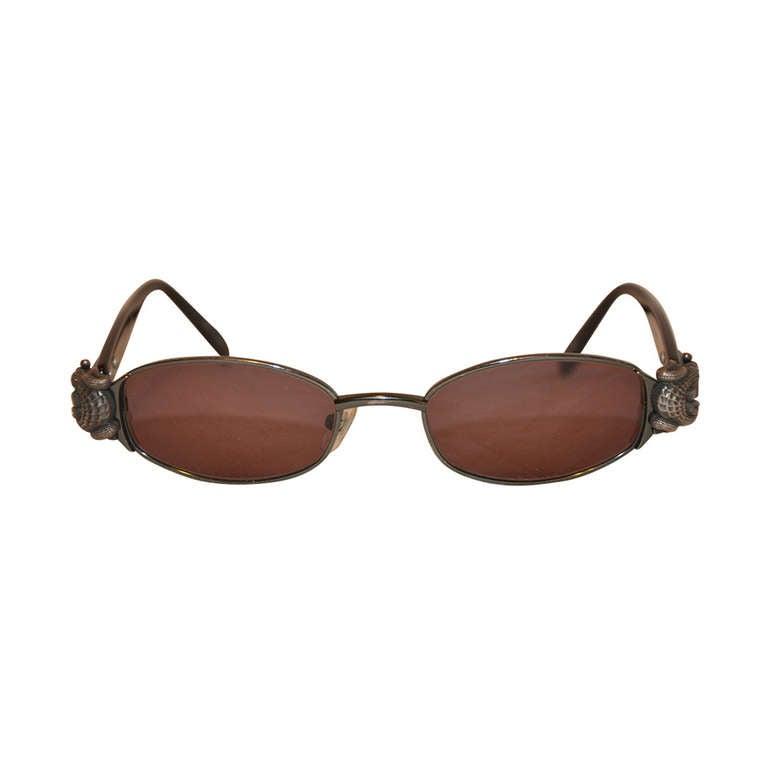 Kieselstein-Cord Silver Crocodile Sunglasses