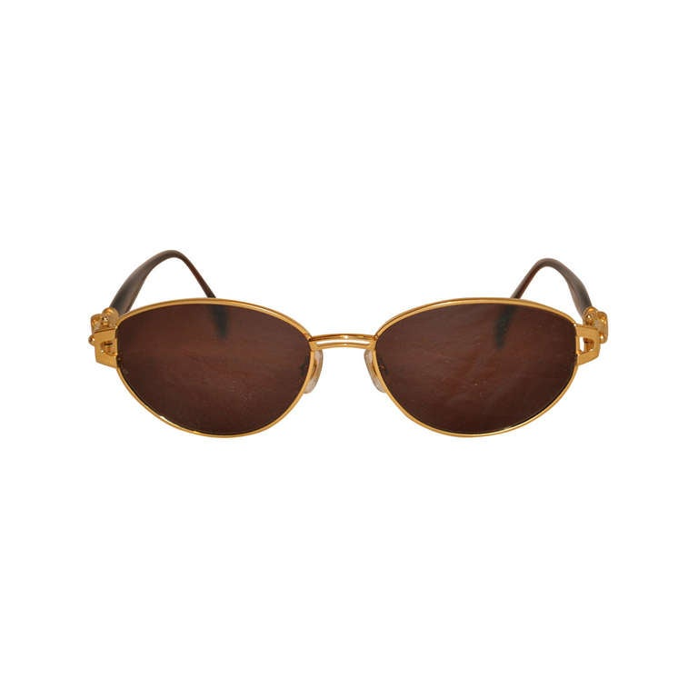 "Kieselstein-Cord 18k ""Crocodile"" Frame Sunglasses For Sale"