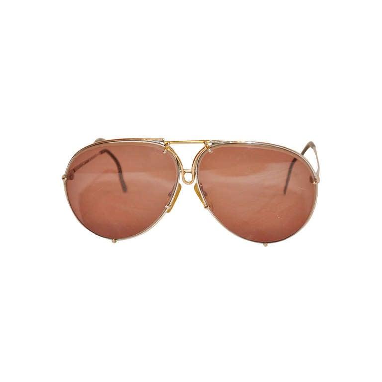 "Porsche Design ""Carrera"" 18k Flip-Up Frame Sunglasses at ..."