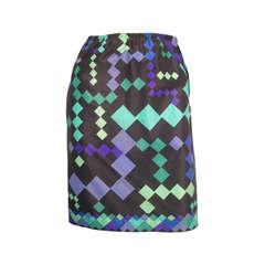 1960s Pucci Designed Nylon Print Slip or Miniskirt