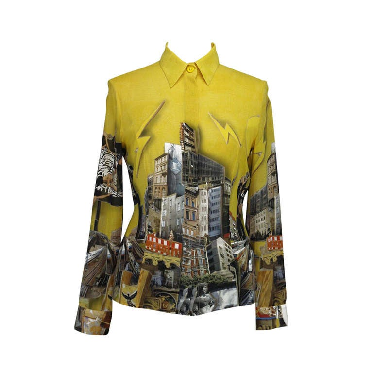 2008 Versace Tim Roeloffs art print Silk Shirt 1