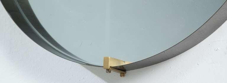 Round Brass Minimalist Mirror At 1stdibs