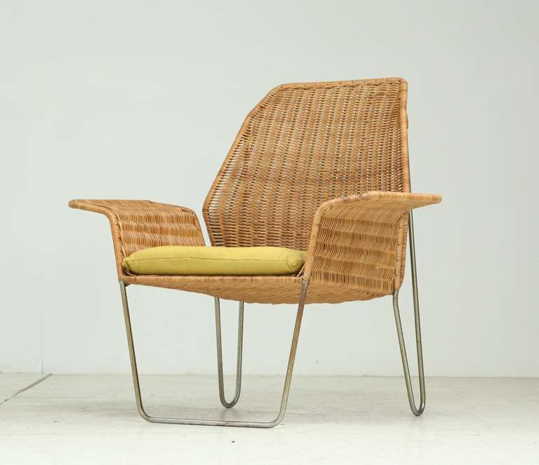 Amazing A Rattan Armchair On A Bent Iron Frame, Which Showcases The Typical Dutch  Design Of