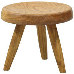 Charlotte Perriand Low Stool in Oak