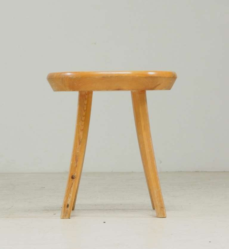 Handcrafted Stool In Pine Finland 1940s For Sale At 1stdibs