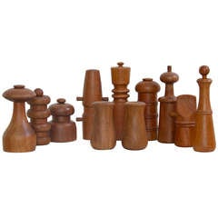 Set of 11 Jens Quistgaard Pepper Mills
